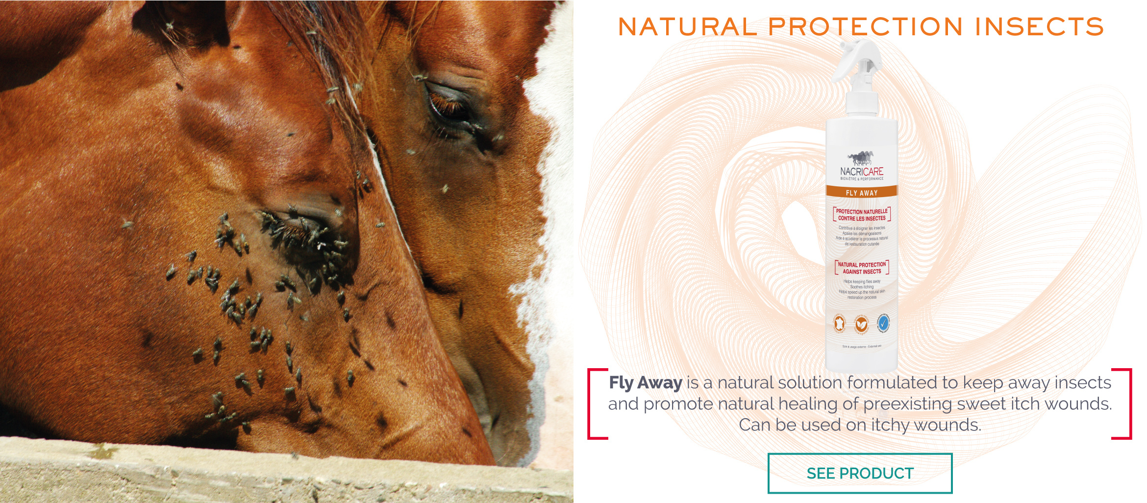 Fly Repellent Horse - FLY AWAY NACRICARE